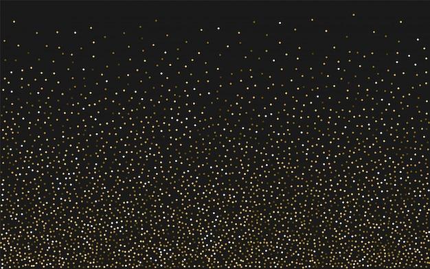 Fundo de confetes de luz dourada