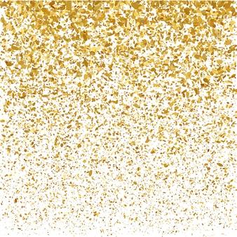 Fundo de confetes de natal dourado