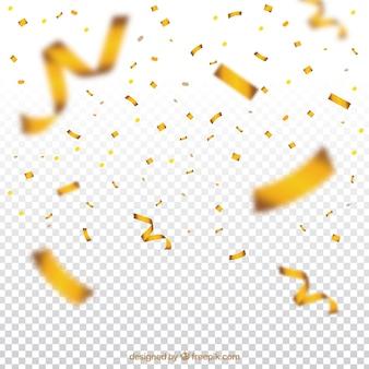 Fundo de confetes dourado e brilhante