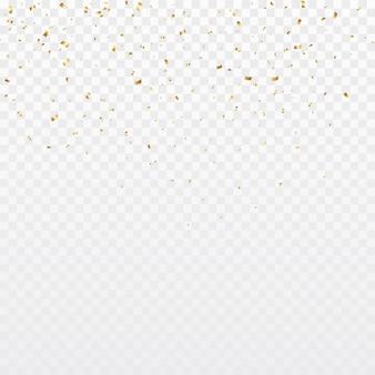 Fundo de confetes ouro
