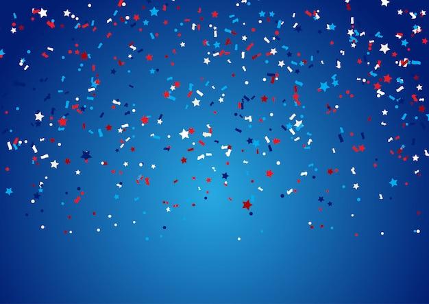 Fundo de confetes para o feriado de 4 de julho