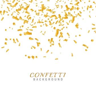 Fundo de confetti dourado de beldade