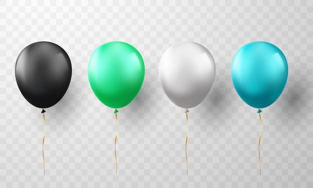 Fundo de conjunto de celebração de balões.
