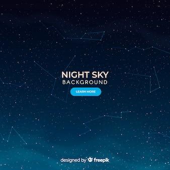 Fundo de constelações de céu escuro da noite