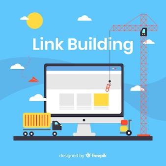 Fundo de construção de link de construção