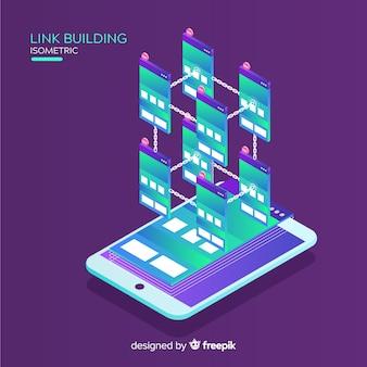 Fundo de construção de link de tablet