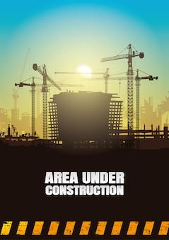 Fundo de construção, gráficos de informação de construção, design de capa de livro.