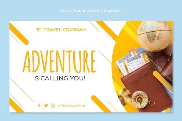 Fundo de contração de viagens de design plano