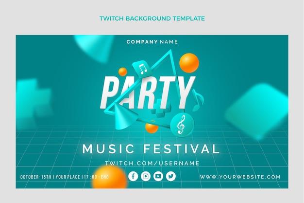 Fundo de contração do festival de música geométrica geométrica gradiente