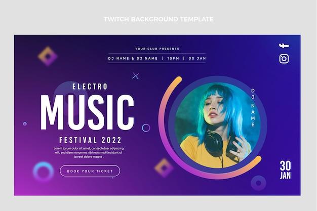 Fundo de contração do festival de música gradiente