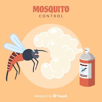 Fundo de controle de mosquito criativo