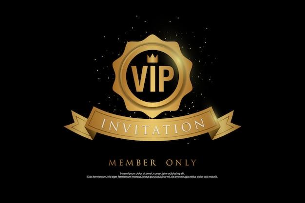 Fundo de convite vip abstrato brilhante dourado