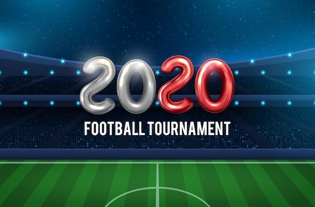 Fundo de copa 2020 de futebol para o campeonato de futebol
