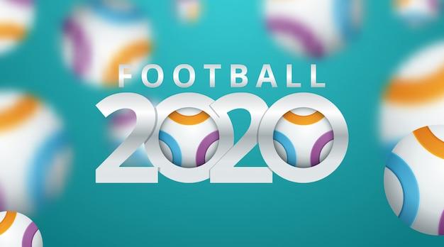 Fundo de copa do mundo de futebol 2020