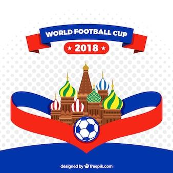 Fundo de copa do mundo de futebol com arquitetura