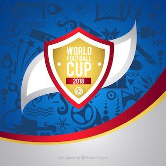 Fundo de copa do mundo de futebol com padrão