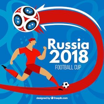 Fundo de copa do mundo de futebol de 2018
