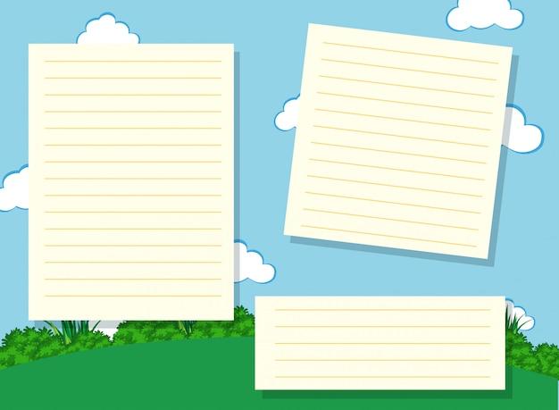 Fundo de copyspace em branco do bloco de notas