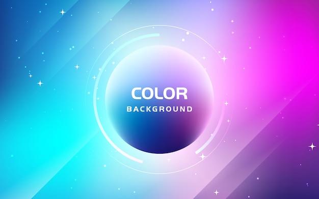 Fundo de cor gradiente fluida abstrata