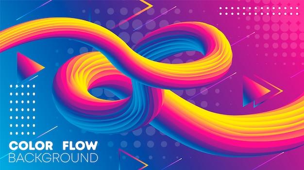 Fundo de cor gradiente líquido