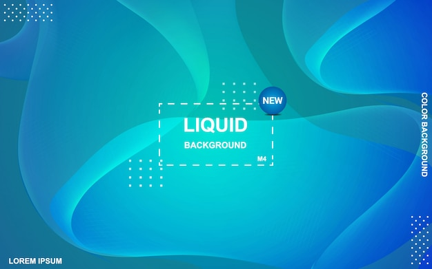 Fundo de cor líquida. composição de formas de gradiente fluida.