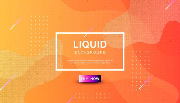Fundo de cor líquido laranja