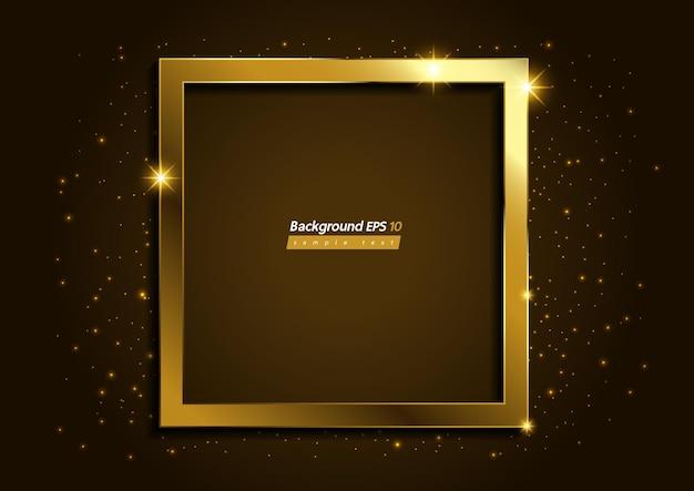 Fundo de cor marrom dourado moderno e luxuoso