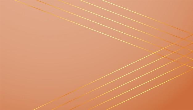 Fundo de cor pastel com formas de linhas douradas