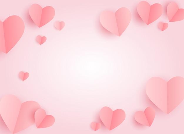 Fundo de coração dia dos namorados