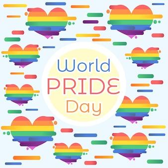 Fundo de coração do dia mundial do orgulho