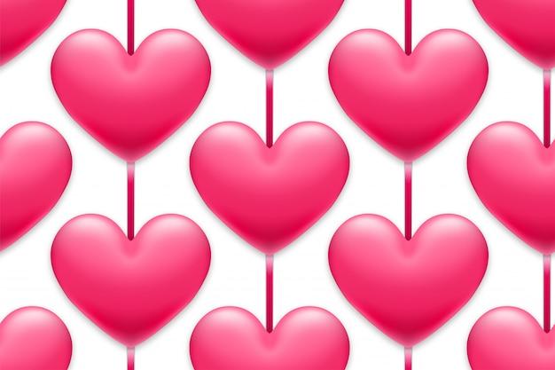 Fundo de corações dos namorados