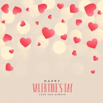 Fundo de corações elegantes para dia dos namorados