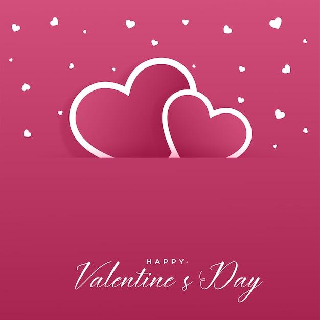 Fundo de corações lindo dia dos namorados