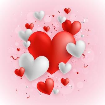 Fundo de corações para dia dos namorados