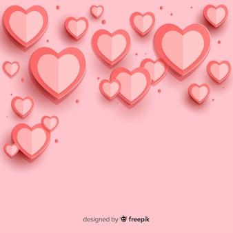 Fundo de corações