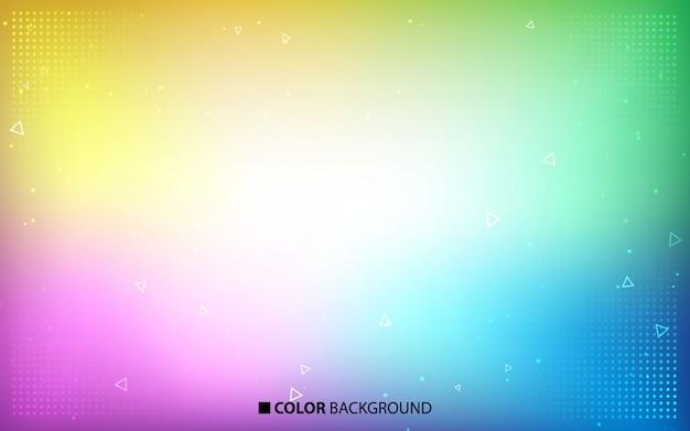 Fundo de cores brilhantes turva