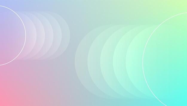 Fundo de cores elegantes com círculos