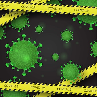 Fundo de coronavirus covid-19