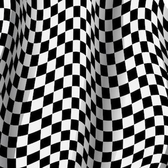 Fundo de corrida com design de esporte de bandeira de corrida.