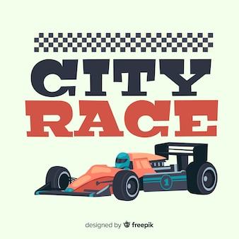 Fundo de corrida de cidade de fórmula 1