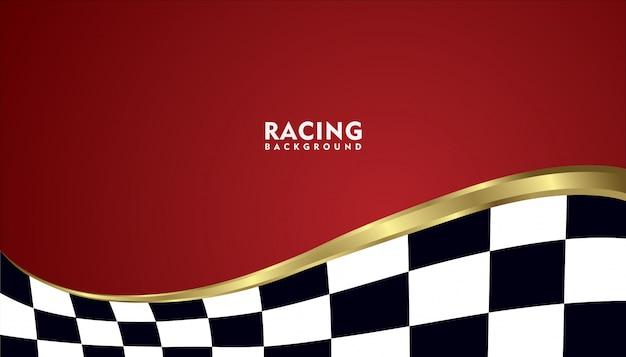 Fundo de corrida metálico ouro realista, fundo quadrado de corrida
