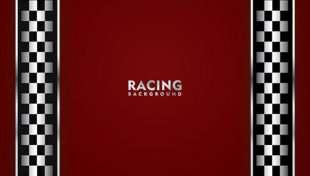 Fundo de corrida vermelho, fundo quadrado de corrida