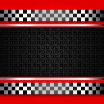 Fundo de corrida vermelho