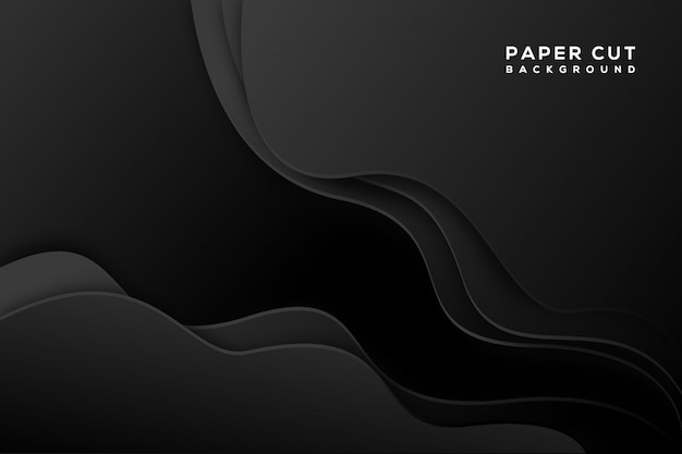 Fundo de corte de papel abstrato preto