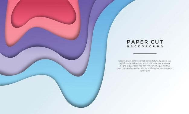 Fundo de corte de papel abstrato rosa roxo claro