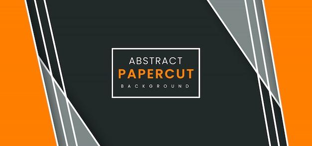 Fundo de corte de papel elegante abstrato