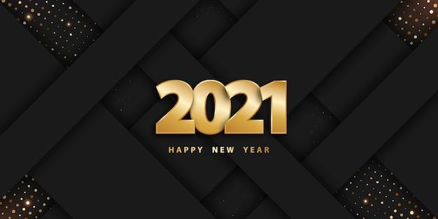 Fundo de corte de papel feliz ano novo