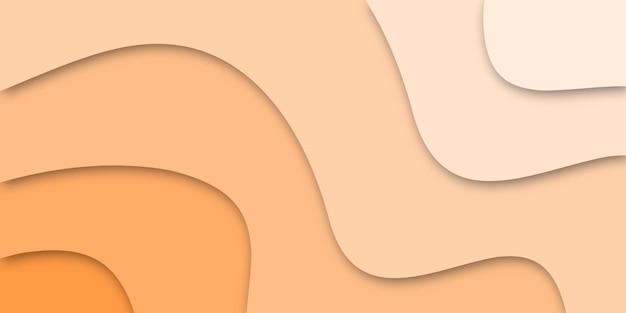 Fundo de corte de papel laranja claro elegante abstrato