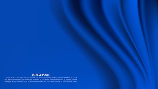Fundo de cortina azul de luxo