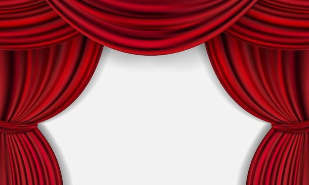 Fundo de cortina vermelha. design de eventos de inauguração.
